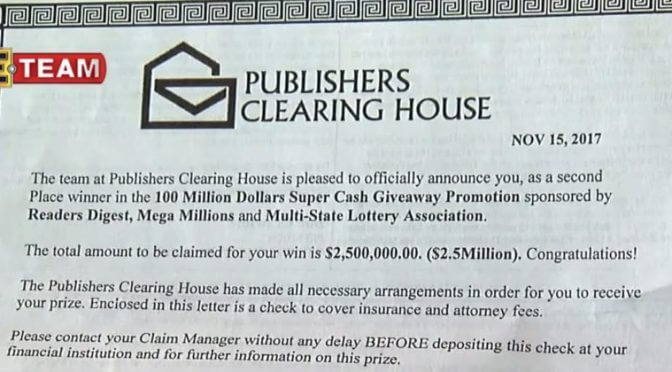If You Get A Publisher's Clearing House Letter, Watch Out For This Awful Scam