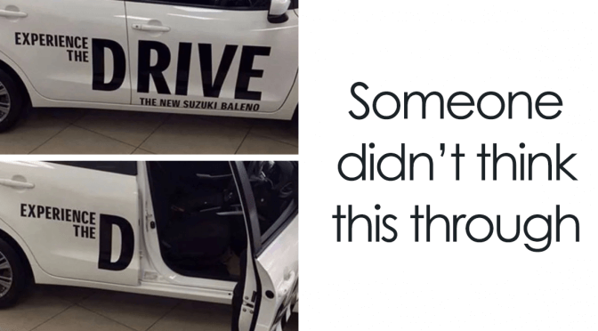 15+ Times Advertisement On Vehicles Fails Were Noticed A Little Bit Too Late