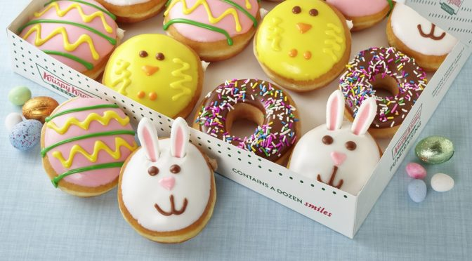 This Adorable Easter Bunny Doughnut From Krispy Kreme Was Made For The Gram