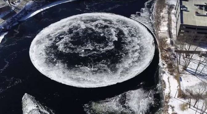 What The Hell Is This Giant Spinning Ice Disk That Just Appeared In Maine?