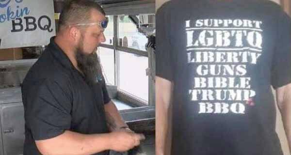 Barbecue truck's 'controversial' LGBTQ T-shirt ignites social media backlash