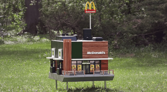 McDonalds Opens A Tiny Restaurant For Bees