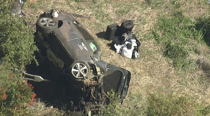 'Jaws of life' used to remove Tiger Woods from car crash