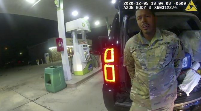 Video: Cops Draw Guns on a Black Army Officer, Pepper Spray Him, Force Him to the Ground