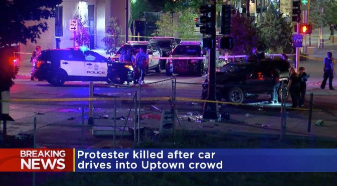 Car Plows Into Protesters In Minnesota, Killing 1, Police Say