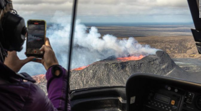 Right now in Iceland: Hot lava and a warm welcome