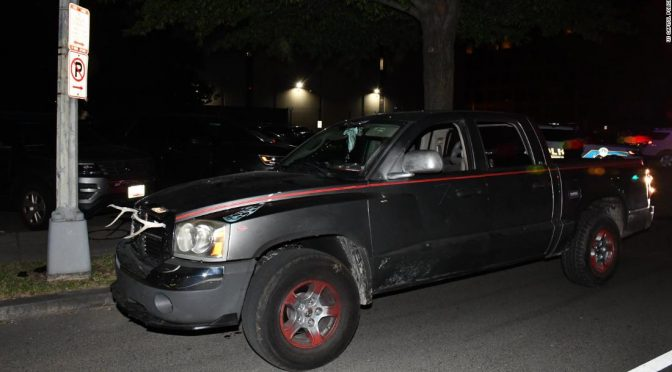 Capitol Police arrest man with bayonet and machete in truck near DNC headquarters